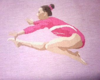 Gymnast Cross-Stitch  Kyla Ross USA