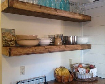 FREE SHIPPING*** Wood Floating Shelves | Rustic Shelf | Farmhouse Shelf | Floating Shelf | Reclaimed Wood Floating Shelf | Handmade Shelf