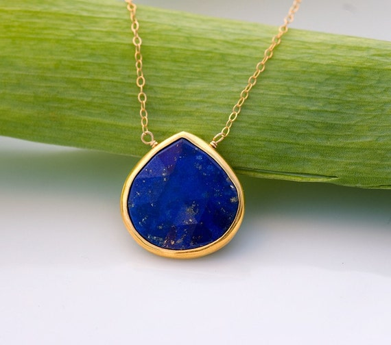 jewelry silver bright product necklace lapis slip over solana