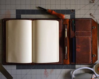Murdy No. 6 World Travelers Leather Journal Cover