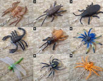 Insects & Arachnids - Butterfly, Bug, Creepy Crawler, and Spider Necklaces, Keychains, Chokers and more