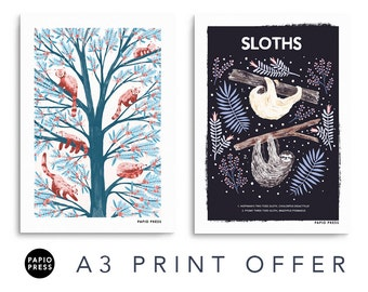 Any Two A3 Prints Gift Set