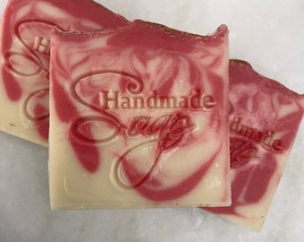Apple Rose Cold Process Soap|Natural Soap|Handmade Pretty Soap|Fragrant Soap|Metropolitan Soap|Vegetable-Based Soap|Cruelty Free