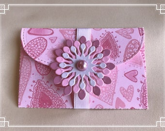 Gift card holder / pockets | love theme | money envelope | love message | DIY coupon | voucher holder