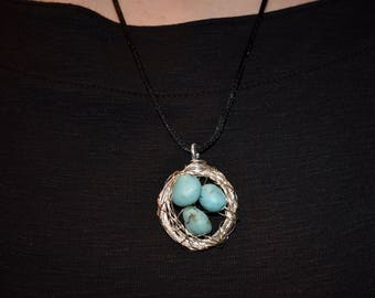 Nest Necklace // Turquoise // Handmade