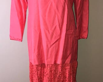 Vintage 80's Hot Pink Prom Dress / size 10 / by Char