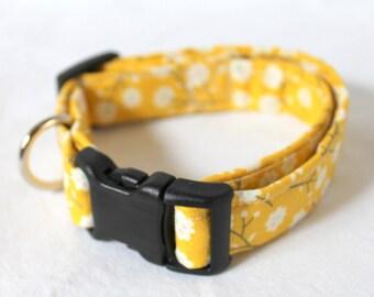 Yellow Flower Dog Collar