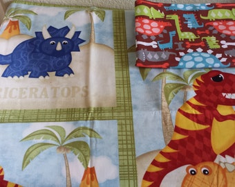 New!  Made-to-Order Reversible Boy Crib Quilt/Crib Set- Various colors and themes!