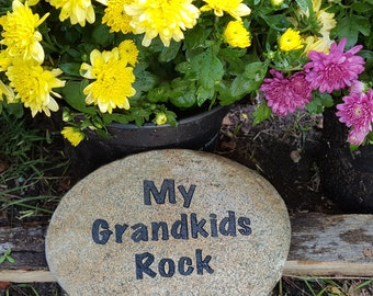 engraved garden stones. Mother\u0027s Day Gift For Grandma - Name Rocks Personalized Grandkids Custom Garden Stone Engraved Stones
