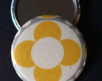Flower print Pocket mirror and matching wallet