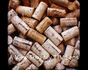 INSTANT DOWNLOAD- Put a Cork In It- Ttv photography , wine corks, vintage prints, square prints, prints for walls