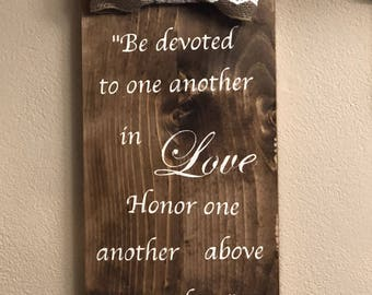 Wedding Wall Art - Romans 12:10