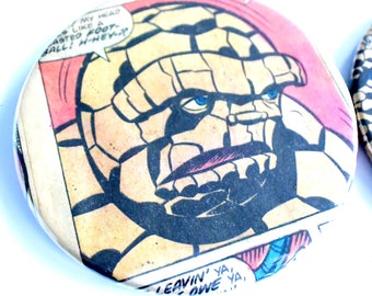 Thing Coasters // Recycled Vintage Comic // Set of 4