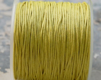 100 yards Yellow Wax Cord (1mm) S 40 035