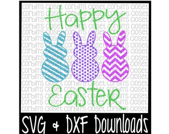 Easter SVG * Happy Easter * Bunny * Easter Bunny Cut File - SVG & DXF Files - Silhouette Cameo, Cricut