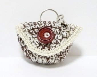 Small Coin Purse Crochet Pattern Pouch Crochet Pattern PDF Instant Download Small Purse with Flap Cover and Clasp
