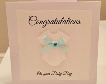 Baby boy card - new baby boy card - baby boy - it's a boy card - new baby boy - congratulations baby boy