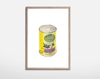 Olives Illustration print