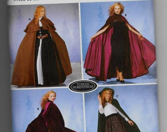 5794 Simplicity Women's Capes Sewing Pattern Sizes XS-L Designer Teresa Nordstrom