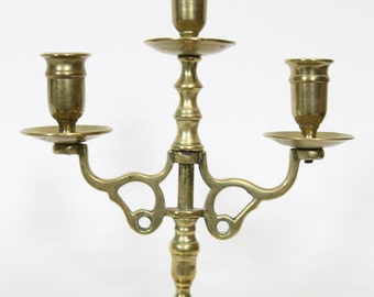 Vintage Ornate Brass Candelabra