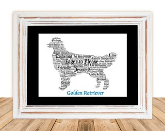 Golden Retriever, Golden art, Custom, Personalize, Pet Gift, Gift under 30, Dog Art, Pet Art, Pet Love