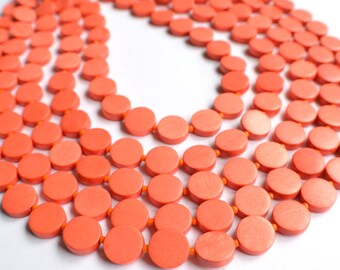 Charlotte - Orange Wood Bridesmaid Statement Necklace