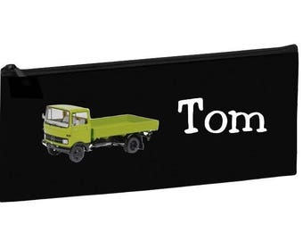 Black School Kit green truck personalized with name