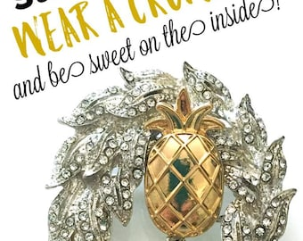 Pineapple Brooch | Pineapple Jewelry | Pineapple Gift | Pineapple Pin | Gift for Her | Aloha | Gift Idea