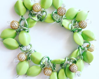Pretty green bracelet/Beadiebracelet