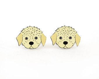 Goldendoodle Labradoodle Earrings, Goldendoodle Labradoodle Jewelry, Labradoodle Jewellery, Dog Earrings, Dog Jewelry, Shrink Plastic