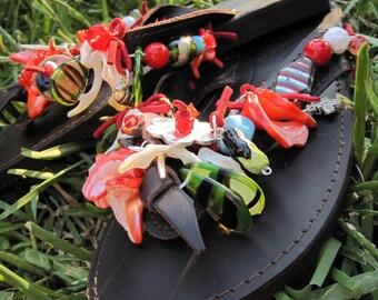 Spring - Leather sandals - Flip flops