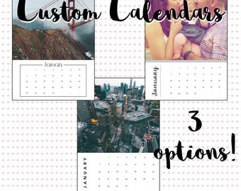 DIGITAL Custom 5x7 Calendar, Personalized Calendar, 5x7 Desk Calendar, Photo Calendar