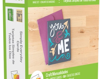 NEW!!!! Cricut Simple Everyday Cards Cartridge. 50 Cards on this cartridge. Must use the universal overlay.