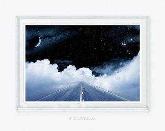 moon photo, moon art, moon photograph, galaxy photo, stars photo, stars photograph, surreal photograph, surrealistic photo, children decor