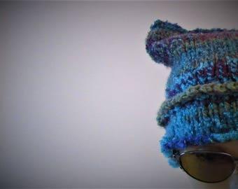 Kids Chunky Warm Horned Hat