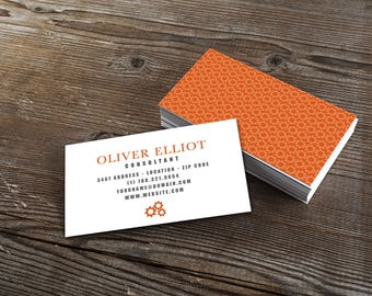 Pre-made Business Card Design, Contact Card, Pre-made Business Card, Calling Card, Branding Package, DIY Business Card, Call Card, Visiting