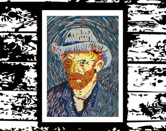 Van Gogh graphic design print