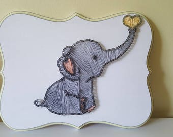 Baby Elephant String Art