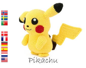 Crochet pattern Pikachu (Pokemon)