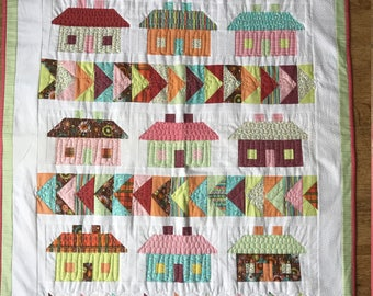 """Patchwork Throw; """"Home Sweet Home"""""""
