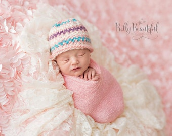 Sprightly Beanie Knitting Pattern - All Newborn, Baby, Toddler, Child, and Adult Sizes Included