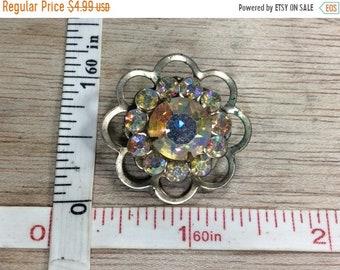 10%OFF3DAYSALE Vintage Pin Brooch Aurora Borealis Rhinestones Used