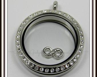 Infinity Floating Charm for Glass locket / Floating Locket / Memory Locket