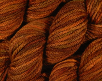 Hand Dyed Bulky Yarn, Bulky Weight Superwash Merino Wool Yarn - Spice - Knitting Yarn, Thick Hand Dyed Yarn For Chunky Knits, Autumn Colors