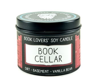 Book Cellar - 4 oz Book Lovers' Soy Candle -  Book Lover Gift - Scented Soy Candle - Frostbeard Studio