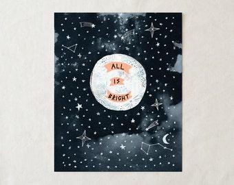 All is Bright - Art Print