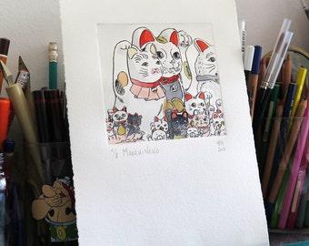 Manekineko / Maneki neko, good-luck cats from japan