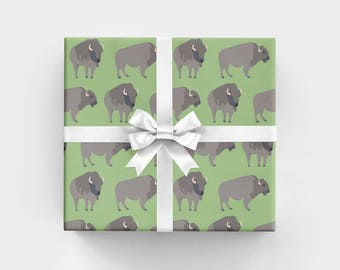 Buffalo Wrapping Paper - 3 Flat Sheets by Revel & Co. WS1173