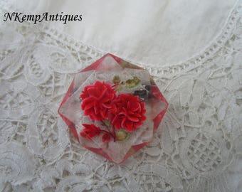 Lucite flower brooch 1930