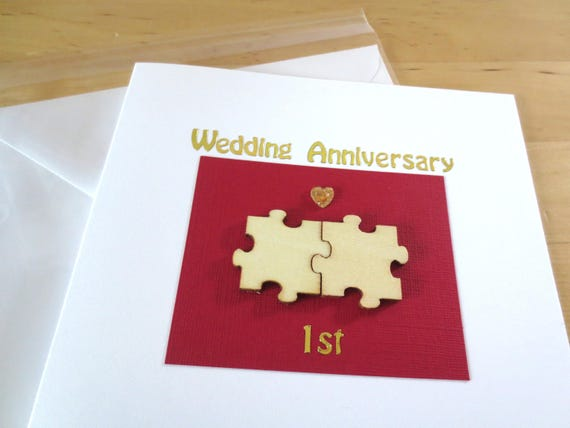 Wedding anniversary card st wedding anniversary first